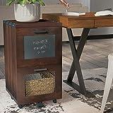 Mara 2-Drawer Vertical Filing Cabinet, Unique Chalkboard Panels, File Size Accommodated: Letter