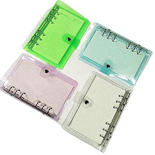 PPuujia A7 A6 A5 Transparente Transparente Hoja Cuaderno Cuaderno Cuaderno Interno de núcleo Cuaderno Diario Planificador Oficina Suministros de papelería (Color : Blue Cover)