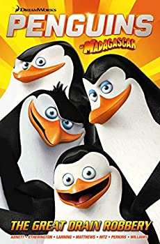 Paperback Penguins of Madagascar: The Great Drain Robbery Book