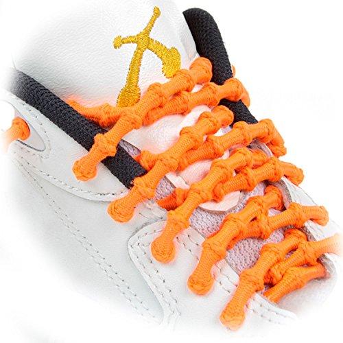 XTENEX Schnürsenkel Kids, Cordones de zapatos Unisex Adulto, naranja neón, 50 cm