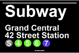 Subway Grand Central 42 Street Station NYC Aluminum Tin Metal Poster Sign Wall Decor 12x18