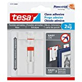 tesa TE77777-00001-00 Sms Clavo Adhesivo Ajustable Hasta 2Kg para Pared Pintada, Standard, Única, Set de 2 Piezas