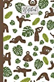 Sloth Notebook: A fun 6'x9' notebook for the sloth lover; 120 blank lined pages; journal; diary; school; class; home; office; work; student; teacher; ... Easter; Birthday; youth; adult; kid; teen