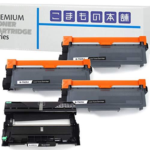 こまもの本舗 ブラザー用 TN-28J 互換トナー3個 & DR-23J 互換ドラム セット【1年保証】 ISO認証工場製造【対応機種】 DCP-L2520D/DCP-L2540DW/FAX-L2700DN/HL-L2300/HL-L2320D/HL-L2360DN/HL-L2365DW/MFC-L2720DN/MFC-L2740DW/MFC-L2540DW/MFC-L2520D