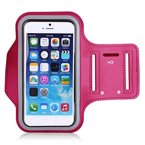 Theoutlettablet Brazalete Neopreno Deportivo para Smartphone Bq Aquaris X5 / E5 / M5 5' para Correr/Running/Deporte Color - Rosa