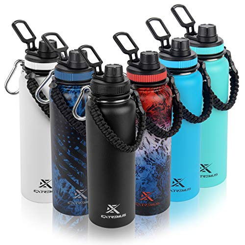 Extremus Deluge Sports Water Bottle, Stainless...
