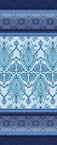 Bassetti Faraglioni V3 Tischläufer, Baumwolle, Blau, 50x150 cm