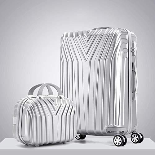 KQATCJ Ligero 20'22' 24'26' 29'Pulgadas Suitcasas PC Maleta Enrollable en Ruedas Travel Equipaje Set Universal Wheel Trip Trolley Case para Salir por Negocios