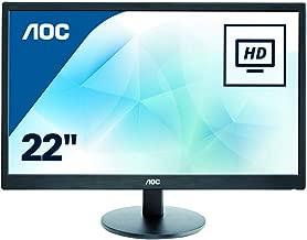 AOC E2270SWN 21.5 Inches Class LED Monitor 1600 x 900 Resolution VGA Black 5ms