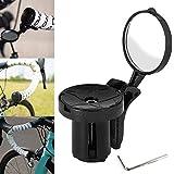 Linghuang Espejo retrovisor para Bicicleta Carretera Bicicleta de montaña Ciclismo Bicicleta Ajustable Manillar Tapón Espejo retrovisor-Fijación en los Mangos del Manillar (2 PC)