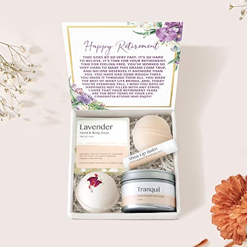 Retirement Spa Gift Box Set - Farewell, Goodbye, Heartfelt Card & Spa Gift from Colleagues, Leave Job, Elderly Employee, Senior, Gift Box from Coworkers