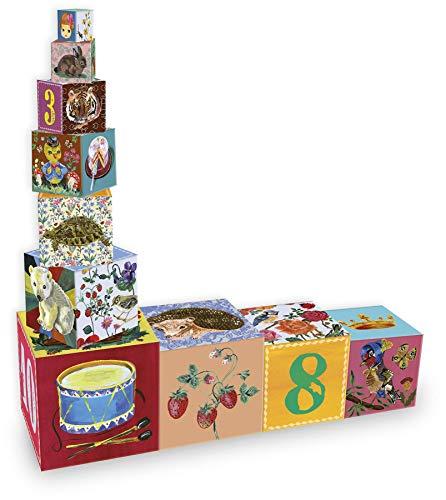 Vilac- Mes jolis Cubes gigognes Nathalie Lété Juguetes para apilar y Encajar, Multicolor (8651)