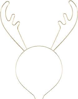 Christmas Antler Headbands for Women Girls Xmas Glitter Reindeer Hairbands Holiday Festive Hair Hoop Christmas Party Favor...