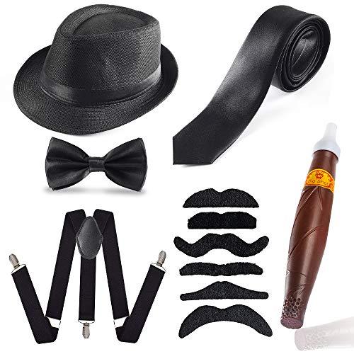 Haichen Herren 1920er Jahre Accessoires Set Gatsby Gangster Kostüm