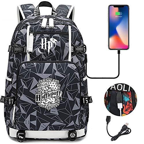 Csfssd Auriculares USB Adolescente Estudiante Bolsa Hombres y Mujeres Casual Viaje Hombro Mochila Camping, Escuela, Viajes, Senderismo portátil Mochila (Color : 16)