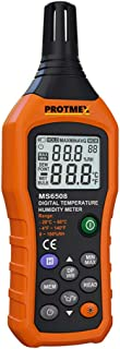 PROTMEX MS6508 Temperature humidity meter Thermometer Hygrometer With Ambient,Dew Point, Wet Bulb For Indoor And Outdoor, ...