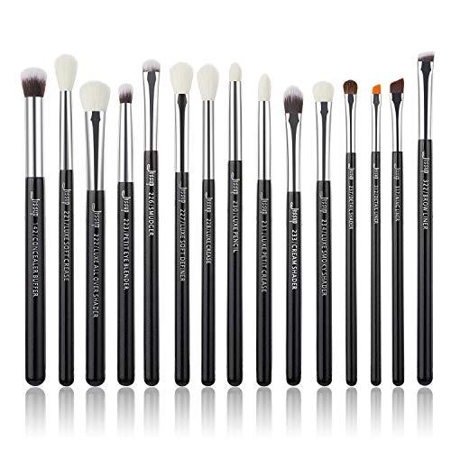 Jessup Augen Makeup Pinsel Set Schminkpinsel Kosmetikpinsel 15 Stück Lidschatten Eyeshadow Brush...