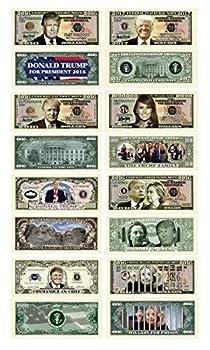 Donald Trump 45th President Collectors 8 Bill Set  Commander In Chief Bill 2016 Presidential 2016 Victory 2016 Trump Vs Hillary Legacy 2017 Inaugural Melania Trump and Hillary For Prison Note