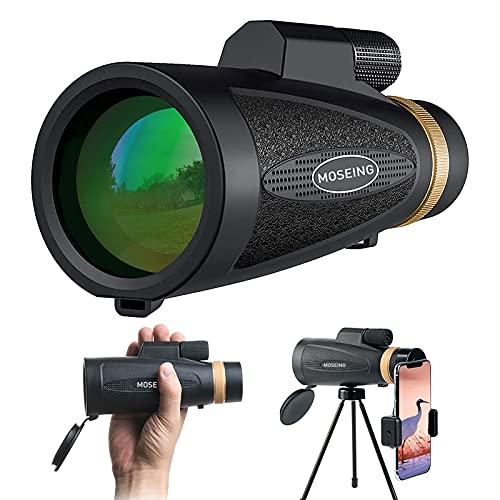 Monokular Teleskop 12X50 Starscope Monokular HD BAK4 Prisma für Ziel Schießen Jagd Vogel Beobachten Outdoor Camping Zoom mit Smartphone Halter