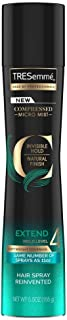 Tresemme Compressed Micro Mist Invisible Hold Natural Finish Extend Hold Level 4 Hair Spray, Black, 155 g