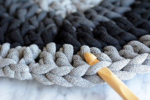 hilo macrame 5 mm trapillo bobinas - cuerda algodon cordon para trenzado tejer a crochet manualidades gris