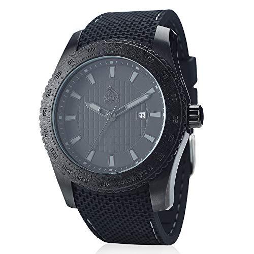 1. FC Köln Armbanduhr schwarz mit Silikon-Armband