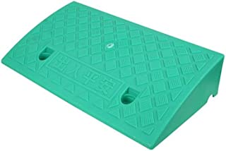 Convenience Store Threshold Ramps, Green 7-13CM Safety Ramps Restaurant Trash Can Step Pad Portable Travel Vehicle Ramps (...