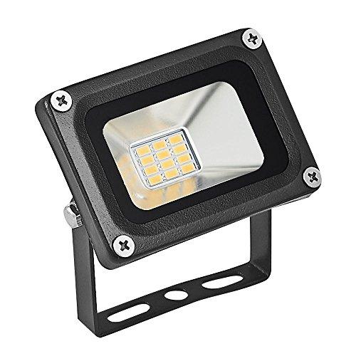 TEquem LED 12V DC 10W 20W 30W LED Außenstrahler Wasserdicht IP65 Aluminium Strahler Flutlicht Wandstrahler [Energieklasse A+] (Warmweiß, 10W)
