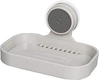 Baoblaze Sucker Leak-Proof Comb Soap Tray Holder Box Wall Mount for Bathroom&Shower Removable & Reusable, Soap Sponge Hold...