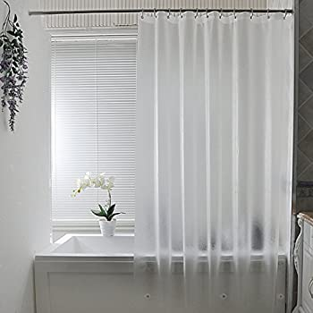 Aoohome Frosted Shower Curtain Liner Eva Extra Long Shower Curtain 72x78 Inch with 3 Bottom Magnets Heavy Duty Semi Transparent