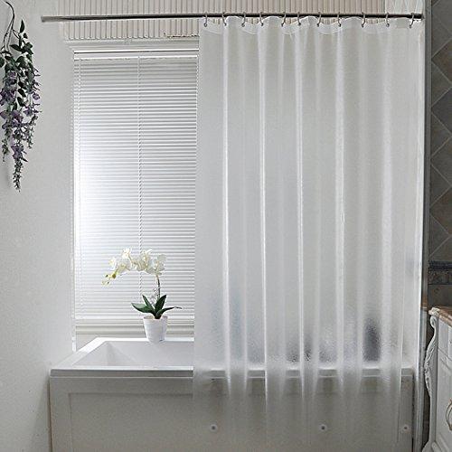 AooHome 防カビ シャワーカーテン 半透明 180 x 200cm 防水 バスカーテン ユニットバス 浴室 間仕切り 北欧 クリア 清潔 フック付き 取り付け簡単