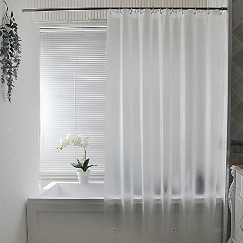 AooHome Extra Long Shower Curtain Liner, Clear Eva Frosted...