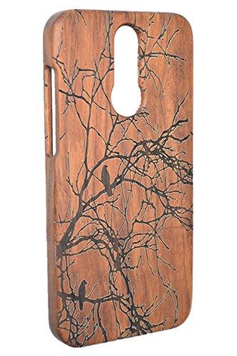 RoseFlower® Holz Schutzhülle für Huawei Mate 10 Lite (14,97 cm (5,9 Zoll) - Palisander Baum Handyhülle - Natürliche Handgemachte Holz Schutzhülle Handytasche Handy Case Cover