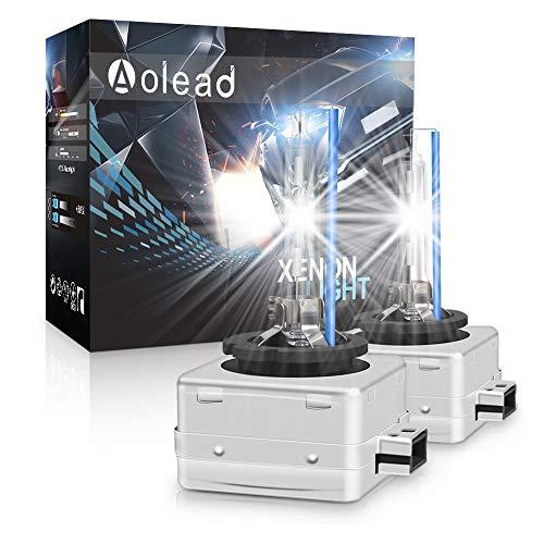 D1S Xenon Brenner - AOLEAD Hid Xenon Scheinwerferlampe 12V 35W, 8000K (2 Lampen)