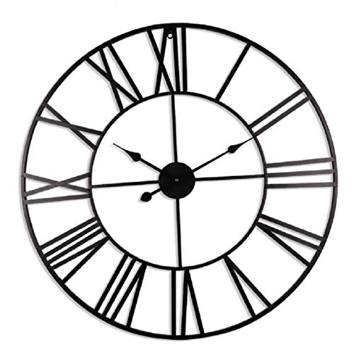 ENCOFT Reloj de Pared Decorativo Vintage Reloj Cologado con Mecanismo Silencioso Decoración para Habitación Dormitorio...