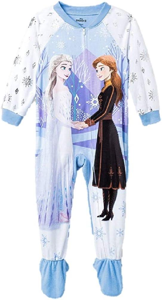 Frozen II Toddler Girls Elsa Anna Footed Pajamas Blanket Sleeper Pajamas