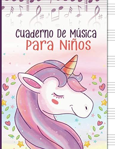 Cuaderno De Música Para Niños: Libreta para Notación Musical para Niños, 6...