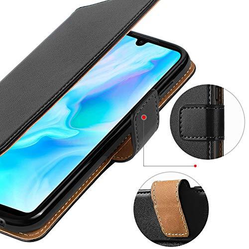 HOOMIL Handyhülle für Huawei P30 Lite Hülle, Premium Leder Flip Schutzhülle für Huawei P30 Lite Tasche, Schwarz - 5