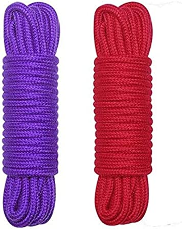 Soft Cotton Rope-32 Feet Length//10m,64-Foot 20m Durable Utility Long Rope Purple