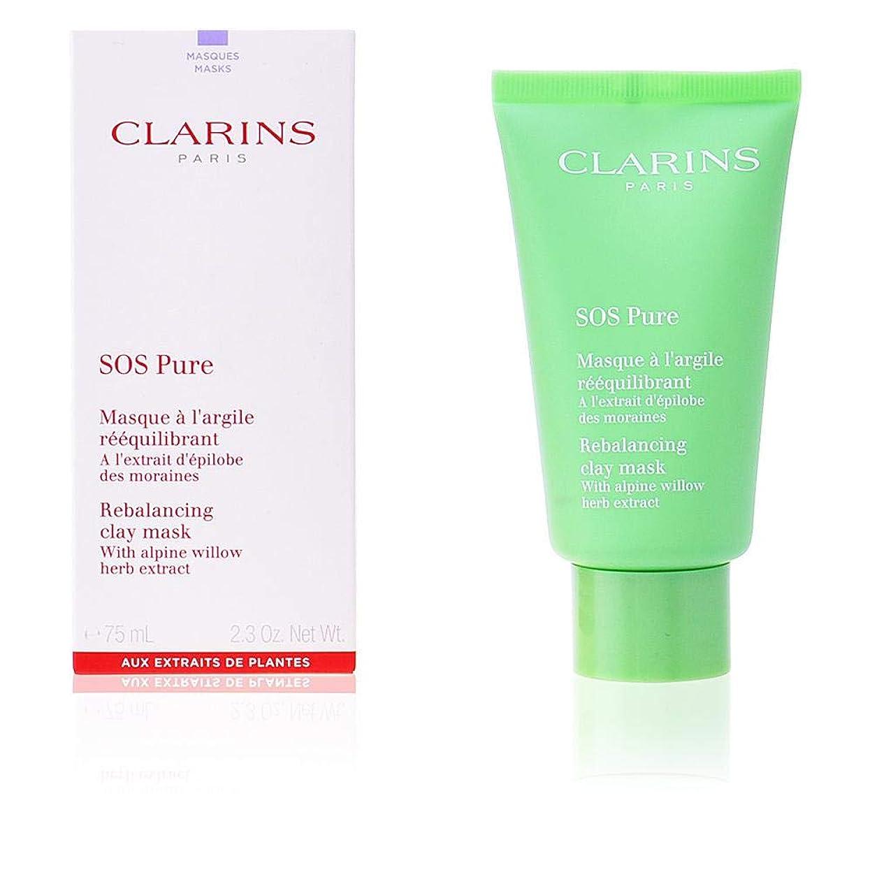 ホース再生的胚クラランス SOS Pure Rebalancing Clay Mask - Combination to Oily Skin 75ml/2.3oz並行輸入品