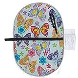 Muster Schmetterling Blume Wickelauflage Für Mädchen Wickelauflage Tragbare 27x10 Zoll Wasserdichte Faltbare Matte Baby Tragbare Wickelstation Windeln Wickelauflage