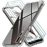 ivoler Coque pour Huawei P20 Pro avec Pack de 3 Protection Écran en Verre Trempé, Transparent...