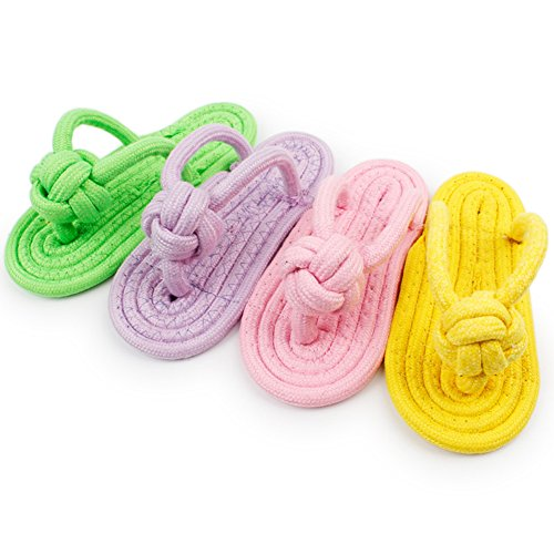 namgiy Hundespielzeug Kauen Pet Toys Bite beständig Interaktives Gesunde Knoten Slipper Hund Schuhe Spielzeug Pet Supplies zufällige Farbe