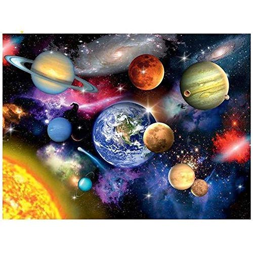 DIY 5D Diamond Painting by Number Kits for Adults Full Drill,Crystal Rhinestone Embroidery Paintings Art Craft Space Planet 15.7x11.8in 1 Pack by LAZODA