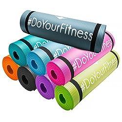 #DoYourFitness® Fitnessmatte/Gymnstikmatte | weiche, rutschfeste Oberfläche ideal für Fitness Yoga & Pilates - Maße: 183 x 61 x 1,0cm inkl. GRATIS Trainingsplan (PDF) & Tragegurt »Yogini« pink