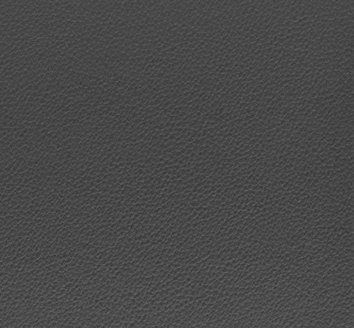 Venilia Klebefolie Leder Optik, Dekofolie, Möbelfolie, Tapeten, selbstklebende Folie, PVC, anthrazit, 350µm (Stärke: 0,35 mm) 53207, 45 x 150 cm