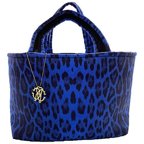 Roberto Cavalli Strandtasche, Frottee, blau