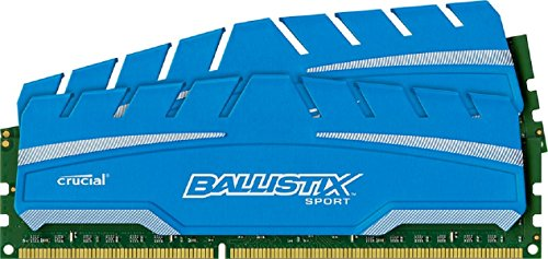 Ballistix Sport XT 8GB Kit (4GBx2) DDR3 1600 MT/s (PC3-12800) UDIMM 240-Pin Memory - BLS2C4G3D169DS3CEU