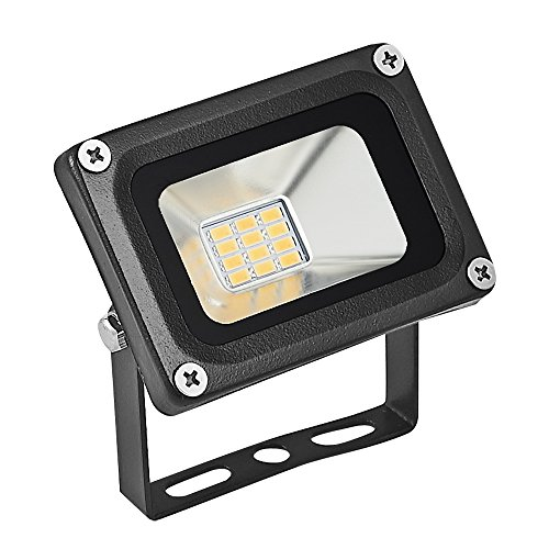 Dorforeen - Foco de 12 V, 10 W, 800 lm, 12 V, luz LED de 2800 K, luz blanca cálida, IP65 impermeable, luces de seguridad para exteriores, luces de pared para parterre, techo, pasillo, por Dorforeen