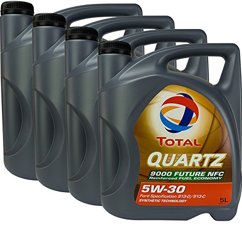 4x MOTORÖL TOTAL QUARTZ 9000 FUTURE NFC 5W-30 5L
